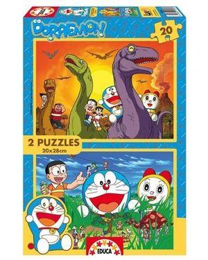 PUZZLE EDUCA 2 X 20 PIEZAS DORAEMON 15298
