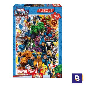 PUZZLE EDUCA 500 PIEZAS HEROES MARVEL 15560