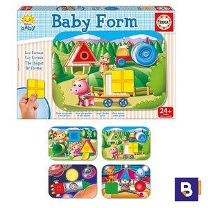 PUZZLE EDUCA BABY FORMS 4 TABLEROS Y 12 PIEZAS 15862