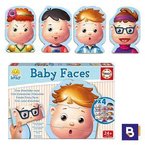 PUZZLE EDUCA BABY FACES 4 PUZZLES DE 3 PIEZAS 15864