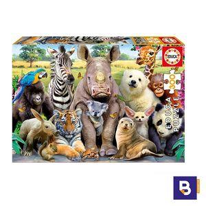 PUZZLE EDUCA BORRAS 300 PIEZAS FOTO DE CLASE 15908 ANIMALES