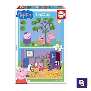 PUZZLE EDUCA BORRAS 2 X 48 PIEZAS PEPPA PIG 15920
