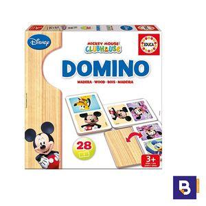 DOMINO EDUCA MADERA 28 PIEZAS MICKEY 16037