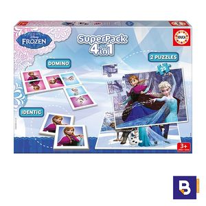 JUEGO EDUCATIVOP EDUCA BORRAS SUPERPACK 4 EN 1 FROZEN 16144