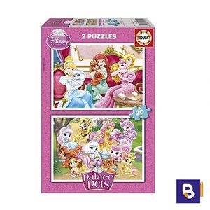 PUZZLE EDUCA 2 X 20 PIEZAS PALACE PETS 16170