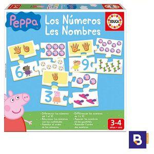 PUZZLE APRENDO LOS NUMEROS CON PEPPA PIG EDUCA BORRAS 16224