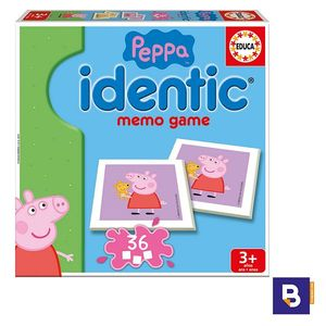JUEGO EDUCATIVO MEMORIA EDUCA BORRAS IDENTIC PEPPA PIG 16227 MEMO GAME