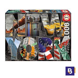 PUZZLE EDUCA 1000 PIEZAS COLLAGE DE NUEVA YORK 16288