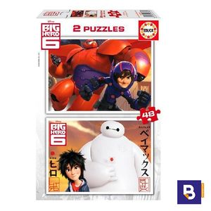 PUZZLE EDUCA 2 X 48 PIEZAS BIG HERO 6 16336