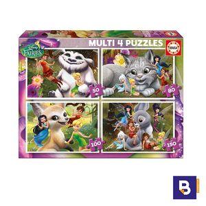 PUZZLE EDUCA MULTI 4 PUZZLES FAIRIES 16350