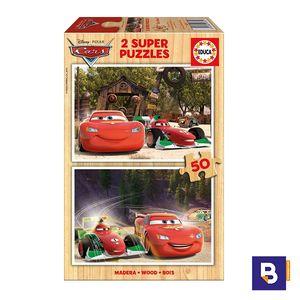 PUZZLE EDUCA MADERA 2 X 50 PIEZAS CARS 16372