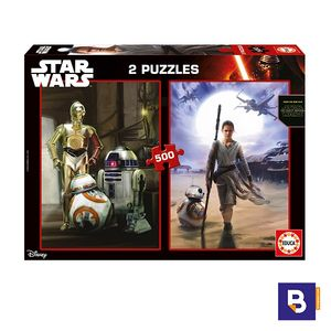 PUZZLE EDUCA 2 X 500 PIEZAS EPISODIO VII STAR WARS 16523