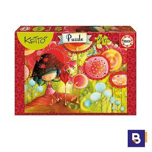 PUZZLE EDUCA 200 PIEZAS KETTO JUNGLE OF FLOWERS 16813