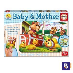 PUZZLE EDUCA BABY & MOTHER 6 PUZZLES DE 2 PIEZAS 16845