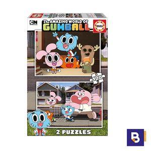 PUZZLE EDUCA 2 X 100 PIEZAS ASOMBROSO MUNDO DE GUMBALL 17008