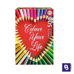 PUZZLE EDUCA 500 PIEZAS COLOUR YOUR LIFE 17081