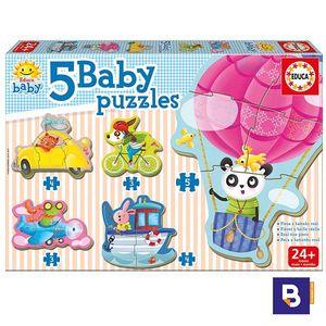 PUZZLE EDUCA BORRAS 5 BABY PUZZLES ANIMALES AL VOLANTE 17141