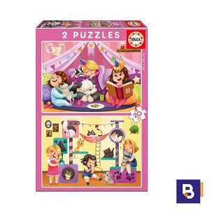 PUZZLE EDUCA 2 X 20 PIEZAS PIJAMA PARTY 17148