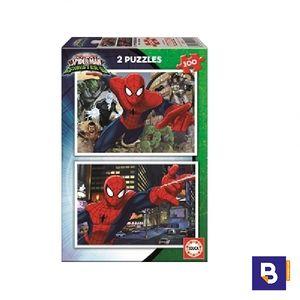 PUZZLE EDUCA 2 X 100 PIEZAS SPIDERMAN VS SINISTER 17171