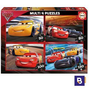 PUZZLE EDUCA BORRAS 4 MULTI PUZZLES CARS 3 17179