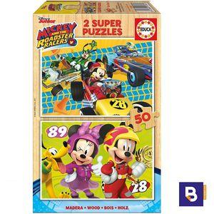 PUZZLE EDUCA BORRAS 2 X 50 PIEZAS MICKEY Y LOS SUPERPILOTOS 17236