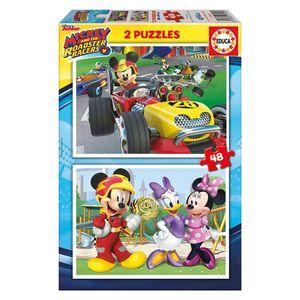 PUZZLE EDUCA 2X48 PIEZAS MICKEY Y LOS SUPERPILOTOS 17239