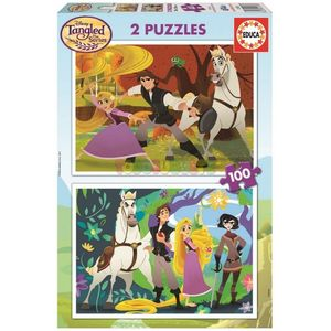 PUZZLE EDUCA 2X100 PIEZAS TANGLED 17282