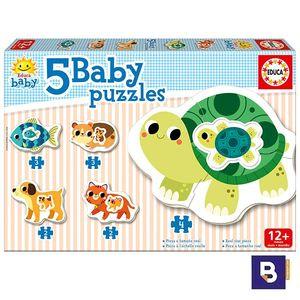 PUZZLE EDUCA BORRAS 5 BABY PUZZLES ANIMALES DOMESTICOS 17573