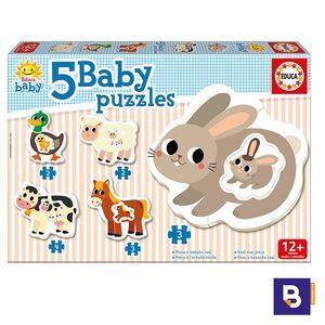 PUZZLE EDUCA BORRAS BABY PUZZLES ANIMALES GRANJA 71574