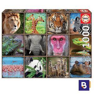 PUZZLE EDUCA BORRAS 1000 PIEZAS COLLAGE ANIMALES SALVAJES 17656