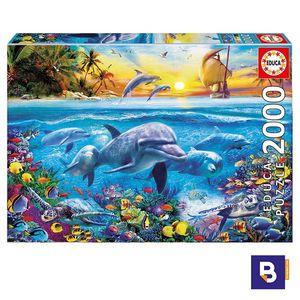 PUZZLE EDUCA BORRAS 2000 PIEZAS FAMILIA DE DELFINES 17672