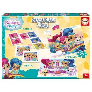 PUZZLE SUPERPACK 4 EN 1 SHIMMER & SHINE REF 17714