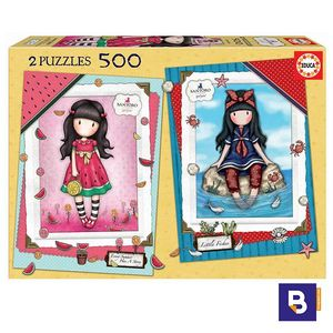 PUZZLE EDUCA BORRAS 2 X 500 PIEZAS GORJUSS SANTORO EVERY SUMMER HAS A STORY + LITTLE FISHES 17993