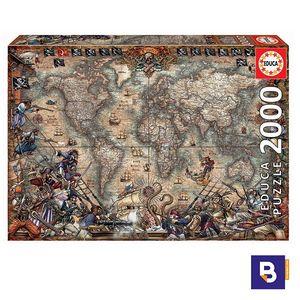 PUZZLE EDUCA BORRAS 2000 PIEZAS MAPA DE PIRATAS 18008