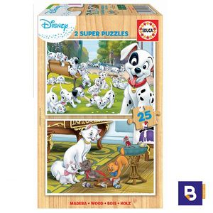 PUZZLE EDUCA BORRAS 2 X 25 PIEZAS ANIMALES DISNEY ANIMALS 18082