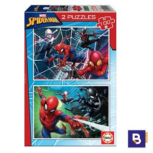 PUZZLE EDUCA BORRAS 2 X 100 PIEZAS SPIDERMAN 18101