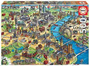 PUZZLE EDUCA BORRAS 500 PIEZAS MAPA DE LONDRES 18451