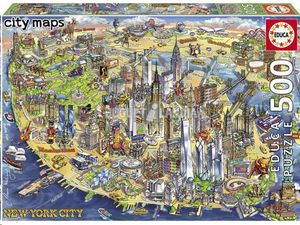 PUZZLE EDUCA BORRAS 500 PIEZAS MAPA DE NUEVA YORK 18453
