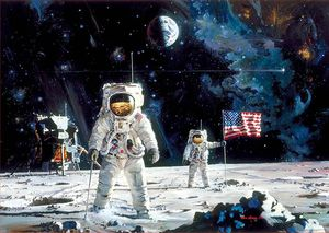PUZZLE EDUCA BORRAS 1000 PIEZAS FISRT MEN ON THE MOON REF 18459
