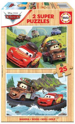 PUZZLE EDUCA BORRAS 2X25 PIEZAS CARS REF 18877