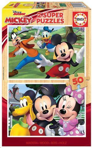 PUZZLE EDUCA BORRAS 2X50 PIEZAS MICKEY & FRIENDS REF 18880