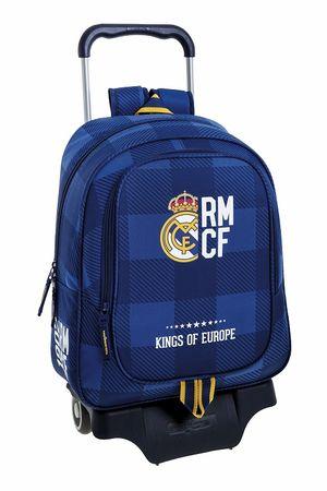 MOCHILA CON CARRO REAL MADRID BLUE SAFTA 611724313