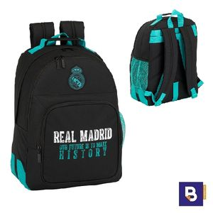 MOCHILA DOBLE SAFTA REAL MADRID SEGUNDA EQUIP 611777773