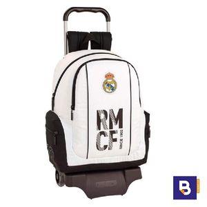 MOCHILA BACKPACK CON CARRO 905 SAFTA REAL MADRID 1ª EQUIPACION 611854313 CON RUEDAS