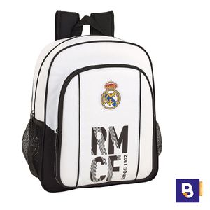 MOCHILA BACKPACK MEDIANA 38 CM SAFTA ADAPTABLE A CARRO REAL MADRID PRIMERA EQUIPACION 611854640