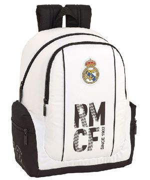 MOCHILA BACKPACK SAFTA ADAPTABLE A CARRO REAL MADRID PRIMERA EQUIPACION 611854662