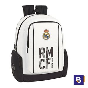MOCHILA DOBLE BACKPACK SAFTA REAL MADRID PRIMERA EQUIPACION 611854795