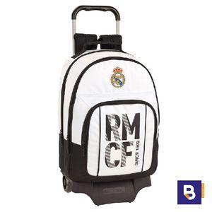 MOCHILA DOBLE BACKPACK CON CARRO SAFTA REAL MADRID PRIMERA EQUIPACION 611854863
