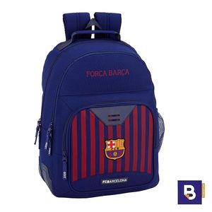 MOCHILA DOBLE 42CM BACKPACK SAFTA ADAPTABLE A CARRO CON CANTONERAS FC BARCELONA 1ª EQUIPACION 611829773