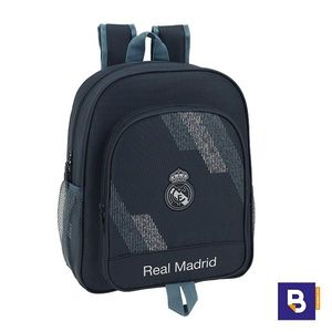 MOCHILA 38CM SAFTA ADAPTABLE A CARRO  REAL MADRID 2ª EQUIPACION DARK GREY 611834640